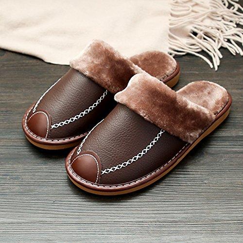 LaxBaL'hiver au chaud, l'hiver Chaussons Chaussons moelleux accueil chaleureux de l'hiver, Maison Chaussons Chaussures antiglisse Light Brown