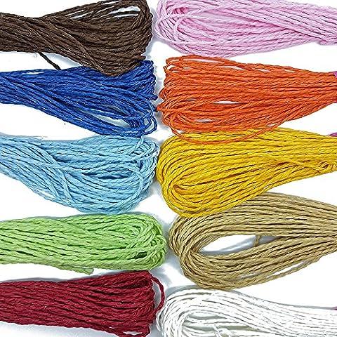 10 Metre Roll of Paper Raffia Cord Craft Twine Rope