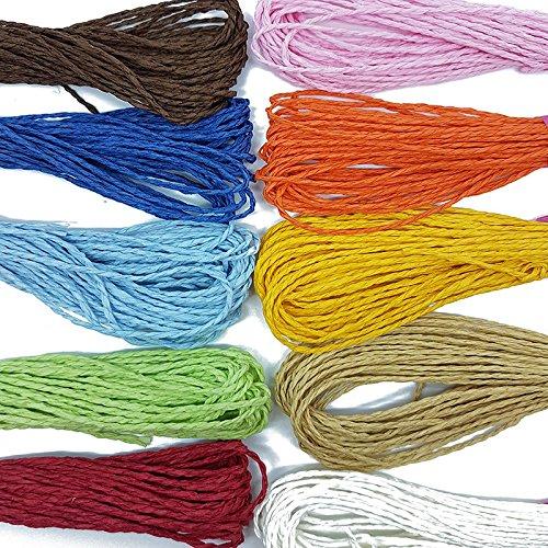 er Raffia Cord Craft Twine Rope String Craft DIY Scrapbook (Brown) By Accessories Attic ()