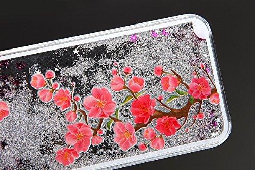 Voguecase® Per Apple iPhone 5C, Sabbie mobili stella Hard Skin Protettivo Skin Custodia Protettiva Shell Case Cover (argento-fiori di ciliegio gatto bianco) Con free Stilo Penna argento-albero crabapple