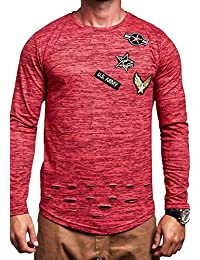 MT Styles Oversize T-shirt à manches longues Rot R-737