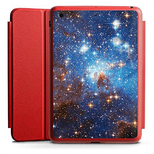 DeinDesign Apple iPad Mini 2 Smart Case rot Hülle mit Ständer Schutzhülle Space Galaxy Galaxie (Apple Smart 2 Ipad Case Rot)