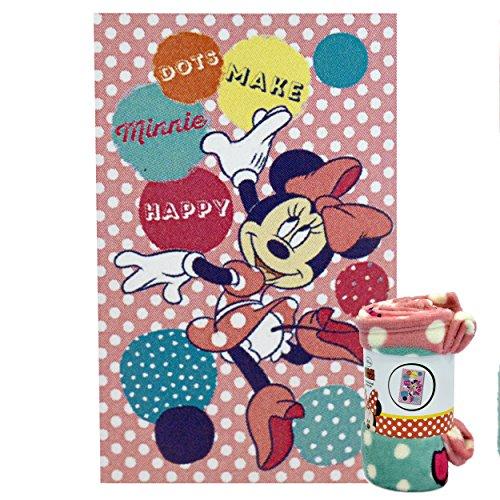 Minnie Mouse Manta Coral 95 X 150 Minnie