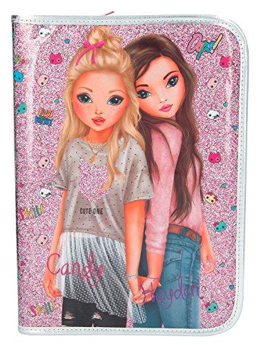 Depesche 8991 - Große Federtasche Top Model Friends, Pink