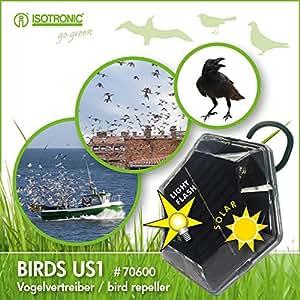 Isotronic solar uccello repellente ultrasuoni uccello for Dissuasori piccioni amazon