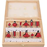 STONE 12pcs Premium Router Bit Set 6.35mm Shank with Wooden Box Specially Designed for Hardwood & Softwood Working Milling Cu