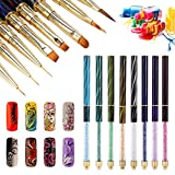 Pennello per unghie pittura UV nail art decorazione per sfumature Pennello unghie Set per manicure Strumenti per pennelli acrilico
