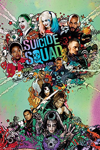 empireposter 743589 Suicide Squad - One Sheet Stampa Retro film poster, Carta, Multicolore, 91,5 x 61 x 0,14 cm