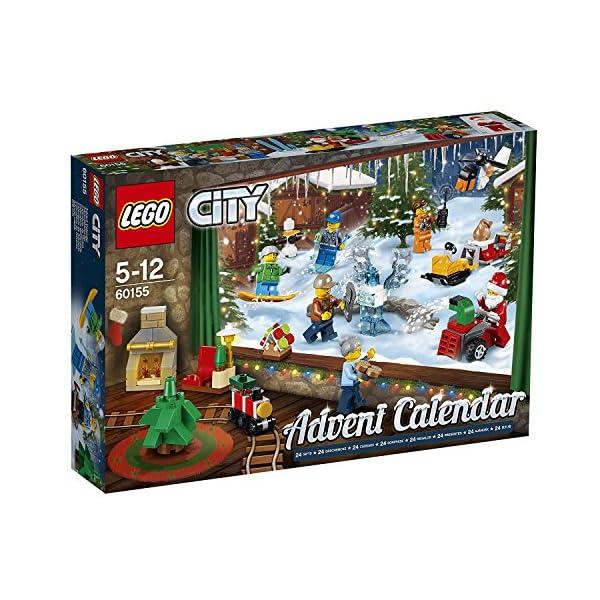 LEGO- City Calendario dell'Avvento, Multicolore, 60155 1 spesavip