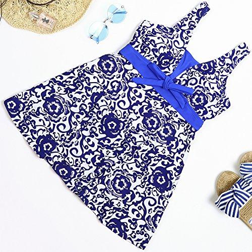 FeelinGirl Damen Badekleid Geblümt Spa Badeanzug Strandkleid Baden Swimwear - 4