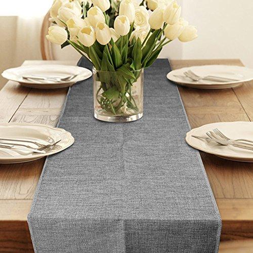 OurWarm Vintage Natural Jute Tischdecke Imitated Leinen Tischläufer Rustic Hochzeit Home Decor -