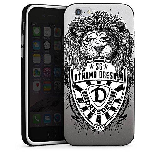 Apple iPhone 6s Plus Hülle Case Handyhülle Dynamo Dresden Fanartikel Löwe Silikon Case schwarz / weiß