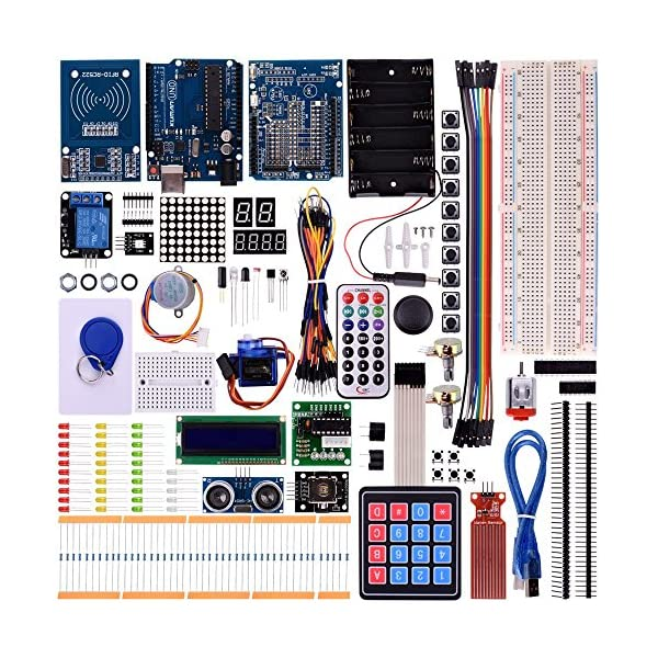 61APVPfTDaL. SS600  - Kuman New Arduino Components with UNO R3 LCD servo Ultimate Starter RFID Learning Kit for Arduino UNO Nano Learners Beginner, Complete 48 Set Kits K25