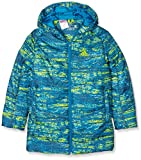 adidas Jungen Padded Allover Print Jacke, Bold Onix/Vapour Unity Blue/Shock Slime, 164