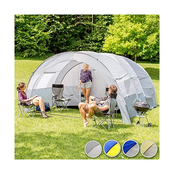 TecTake 800588 XXL Camping Tunnel Tent with Foyer 4-6 persons 2