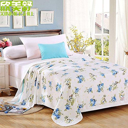 CLG-FLY I bambini gli asciugamani erano spesse coperte coperte per bambini in adulto aria condizionata nel tappeto sonnecchiare tappeto primavera estate e autunno,Rose blu,(Double) 200 * 220
