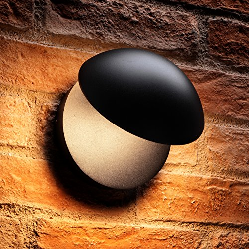 Pivot-wand (Auraglow Contemporary Indoor/Outdoor Integrierte 13w Warmweiß LED Wand Pivot Light)