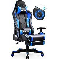 GTPLAYER Gaming Stuhl mit Fußstützen Bluetooth Lautsprecher Musik Stuhl Ergonomischer Computerstuhl Schreibtischstuhl…