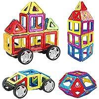 INTEY Blocchi Costruzioni Magnetici Set 32 Pezzi, Bellissimo Regalo di Natale Giocattoli da Costruzione Magnetici per Il Bambino DIY Magnetici Giocattoli per Bambini Serie