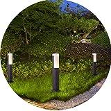 Topmo-plus LED lampade da giardino Esterno/illuminazione da giardino/Palo da giardino / 7W bridgelux COB Luci/Luce da Esterno Terra alluminio/acrilico IP65 aiuole/sentieri 3000K 770LM 30cm Grigio