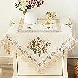 Nachttisch Abdeckung Handtuch/Cross bestickte Tischwäsche/Tischdecke decke/ kleine Tischdecke/ Stickerei TV Kühlschrank/Mikrowelle-B 102x152cm(40x60inch)