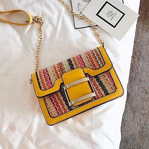 Big bag Hit farbe damen Schulter tasche Freizeit Flow Große kapazität tragbare handtaschen Gelb 2