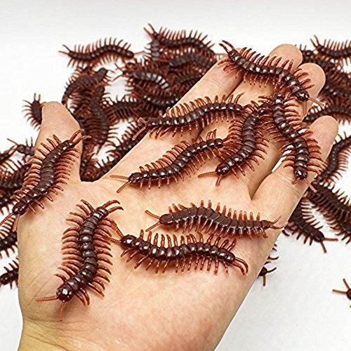 Plastik Spielzeug und Worms Fake Hundertfüßer Simulation Stütze für Halloween April Fool's Tag Unfug (Halloween-unfug)