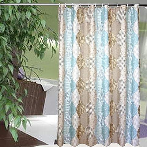 Rideau de douche Rideaux de salle de bains Imperméable Résistance au mildiou Ombres Tissu 100% polyester Rideaux coupe-salle de bain 180x180cm (70,86x70,86 pouces) , 120*200cm