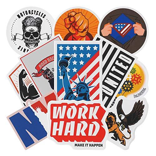 Aufkleber für harte Hut, 24 lustige Aufkleber für Arbeitsplatz, Gewerkschaft, Patriotik und Biker