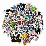 Haushele OFD 50 Blätter/Set Anime Ball Dragon Ball Graffiti Koffer Aufkleber Tagebuch Fahrrad Cartoon Aufkleber Dekoration