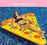 YGJT Piscina Flotador Gigante Pizza Slice Pool Flotador Cama PVC Flotante Air Cushion 180x150cm para Playa Agua Deporte Amarillo