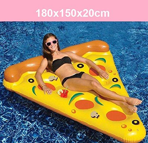 YGJT Piscina Galleggiante Pizza Gigante Slice Pool Letto Galleggiante Cuscino Gonfiabile del PVC per Lo Sport Acquatico della Spiaggia Giallo