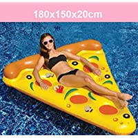 YGJT Piscina Flotador Gigante Pizza Slice Pool Flotador Cama PVC Flotante Air Cushion 180x150cm para Playa