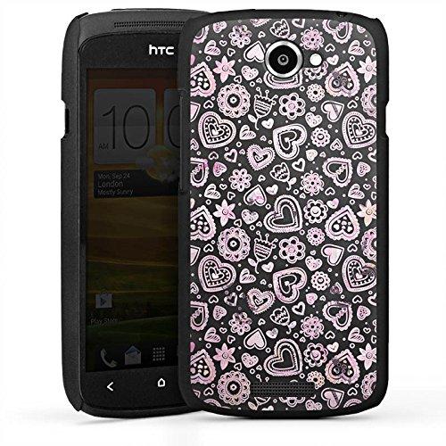 DeinDesign HTC One S Hülle Case Handyhülle Herzchen Muster Herz