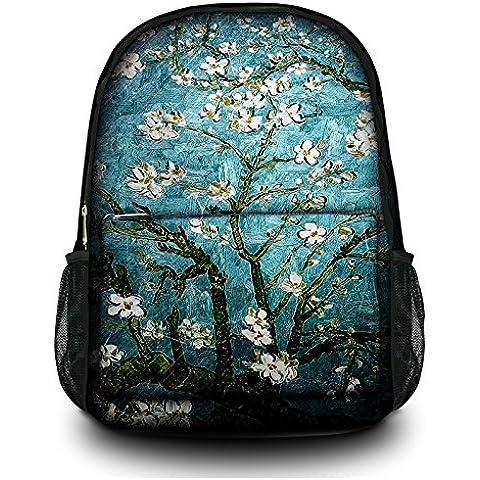 Nuova moda Tela Zaino Satchel Zaino multiuso per Ufficio, Scuola, 16esterni, Specialized scomparto imbottito per laptop Blue&Peach