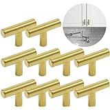 Ziyero 10 stuks T geborsteld roestvrij staal handvat keukenkast geborsteld nikkel kast staaf knoppen kan worden gebruikt in s