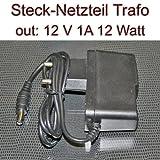 Netzteil Stecknetzteil Trafo 12V 1A 12 Watt Stecker 5,5/2,1mm