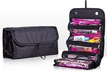 Clomana Roll n go Travel cosmetic Make up jewellery toiletry foldable bag organizer