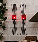 #4: TiedRibbons® Christmas decor | Christmas wall decor hangings for living room | Christmas gift for collegues | Christmas lights and decorations | Set of 2 Wall Sconces With Tealight candle