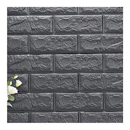 Binglinghua 10pcs 3d pegatinas de pared de ladrillo Panel de PE para papel pintado autoadhesivo de espuma de polietileno ladrillo patrón suave Pack TV sofá antecedentes decoración de sala de estar