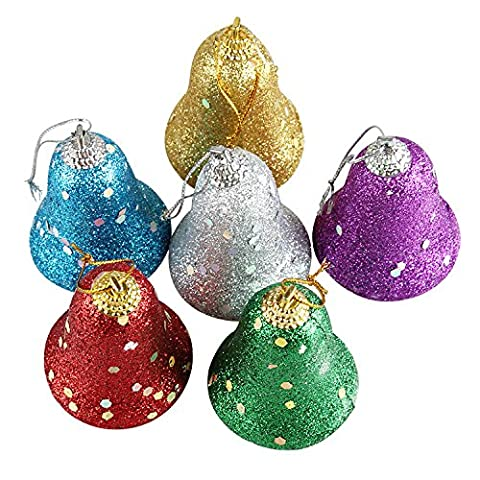 12Pcs Colorful Bell Christmas Tree Hanging Ornament Decoration Foam Products Gifts For Yard Garden Home