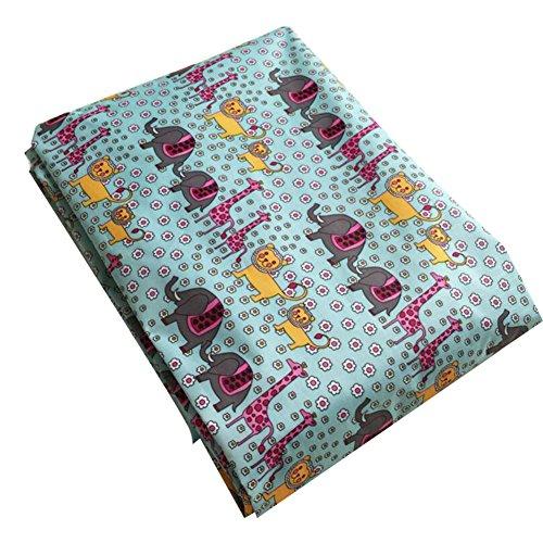 hibote Enfants Jeu Mats bébé Blanket Crawling rembourrée Jouets pour enfants Organizer 115 * 115CM (Bleu Animal)