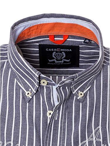 CASAMODA Herren Businesshemd 43167400 Casual Fit Blaugrau
