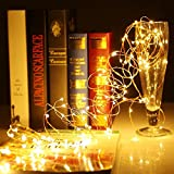 #10: Copper String Light 5M 50 LED 3 AA Battery Operated Decorative String Fairy Lights