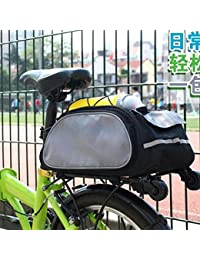 Tradico® New Bicycle Bike Rear Rack Travel Bag Large Trunk Pannier Saddle Pack Black