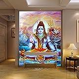 Yosot Religiöse Statuen 3D Des Hinduistischen Gottes Tapezieren Wandbildyoga Tapetenwandbild-250cmx175cm