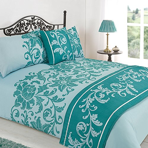 Dreamscene Soft Touch Bed In A Bag Complete Set With Pillowcases Complete Bedding Set, Duck Egg Blue, Single