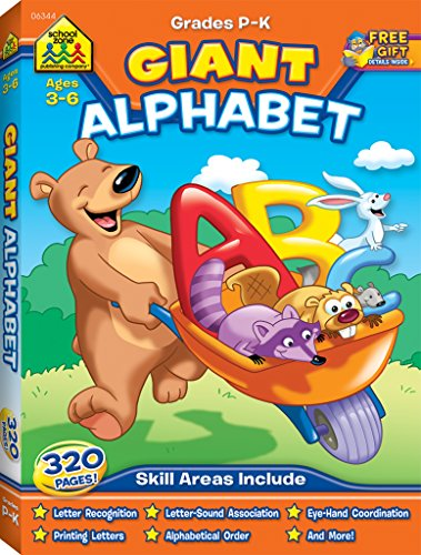School Zone - Giant Alphabet - Ages 3 to 5, Preschool and Kindergarten, ABCs, Uppercase and Lowercase Letters, and Writing