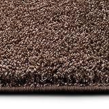 casa pura Shaggy Teppich Bali | Weicher Hochflor Teppich für Wohnzimmer, Schlafzimmer und Kinderzimmer | mit GUT-Siegel | Verschiedene Größen | viele Moderne Farben (100 x 150 cm, Nougat)