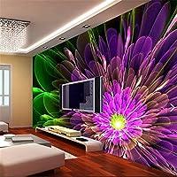 LHDLily 3D Tapete 3D Wallpaper Fresken Wandbilder Verdicken Wunderschöne Effekte Tv-Kulisse Dekorative Malerei Abstrakte Blume Für Wände 3 D 150Cmx100Cm